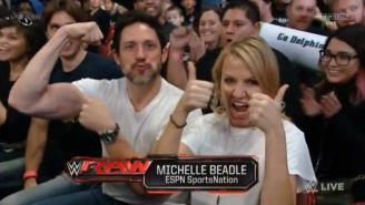ESPN's Michelle Beadle Renewed Her WWE Fan Card On This Week's Raw