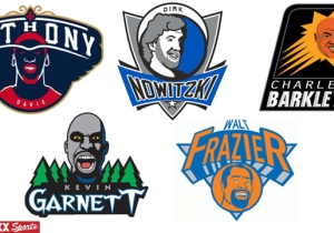 Every NBA Logo As Each Team's All-Time Best Player