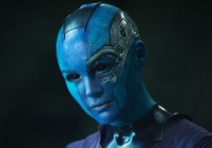 Karen Gillan's feeling blue on the set of 'Guardians Of The Galaxy Vol. 2'