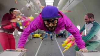 OK Go defies gravity in fun 'Upside Down & Inside Out' video