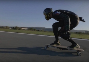 Watching This Guy Break A Skateboarding Speed Record Will Make You Appreciate Your Health