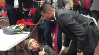 A Reporter Was Choke-Slammed At A Donald Trump Rally By The Secret Service