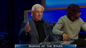 Ric Flair Showed Up At Michigan's Signing Day Because He Just Can't Pick A Favorite Football Team