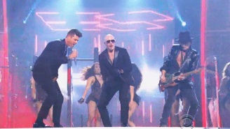 Pitbull Closed The 2016 Grammys With 'Bad Man' And 'Taxi' Featuring An Assist From Sofia Vergara