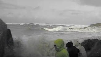 This Harrowing Video Reminds You To Never Turn Your Back On The Raging Sea