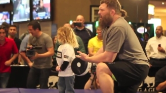 UFC Heavyweight Roy Nelson Was Not Happy When An Announcer Confused His Son For A Girl