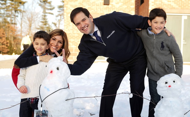 Marco Rubio Campaigns Ahead Of New Hampshire Primary