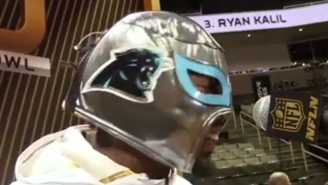 Check Out The Awesome Luchador Mask Panthers Star Josh Norman Sported During Media Day