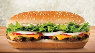 Burger King Just Dropped An Extra-Long Cheeseburger Dripping With Butter (And It Looks Amazing)