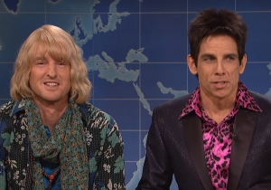 Ben Stiller Returns To 'SNL' With Owen Wilson To Talk Politics As Zoolander