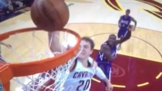 Timofey Mozgov's Rim Rejection Is A Thing Of Pure Beauty