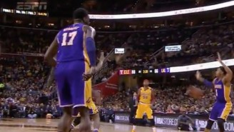 LeBron James Dropped D'Angelo Russell To The Floor With A Pass Straight To His Junk