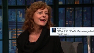 Susan Sarandon Discusses Piers Morgan's Cleavage Comments: 'I Don't Think His Mother Nursed Him'