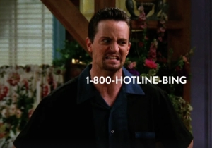 How Did It Take This Long To Mashup Chandler Bing With 'Hotline Bling'?