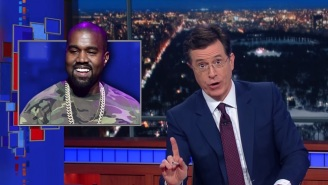 Stephen Colbert Pokes Fun At Kanye West For Boycotting The Grammys, Which He Didn't Even Attend