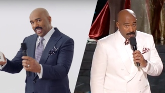 Steve Harvey Sends Up His Miss Universe Gaffe In A Super Bowl Ad For T-Mobile