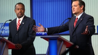 Ted Cruz And Ben Carson Held A Meeting In A Closet To Discuss What Happened In Iowa