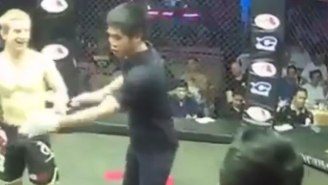 This Fighter Got Knocked Out But Somehow Convinced The Ref To Start The Fight Again