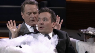 Bryan Cranston And Jimmy Fallon Bring Their 'Tonight Show' Interview To The Bathtub With Bubbly Results
