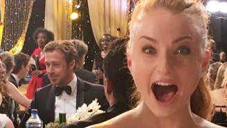 Sophie Turner Had An Adorable Reaction To Encountering Ryan Gosling At The SAG Awards