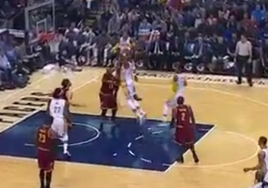 Myles Turner Lifts Off From Just Inside The Free Throw Line For The Two-Handed Jam