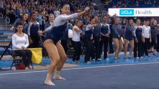 This UCLA Gymnast Hit The Whip, The Nae Nae And The Dab All In One Floor Routine