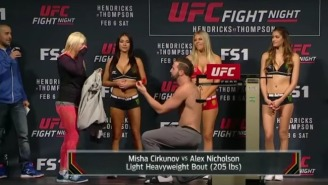 This UFC Fighter Used The Drama Of A Weigh-In To Propose To His Girlfriend