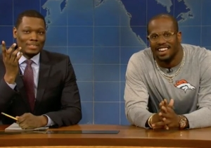 Von Miller Went On 'SNL' And Used Science To Taunt Cam Newton