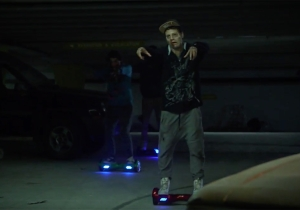 'The Walking Dead' gets a hoverboard update on 'Jimmy Kimmel Live'
