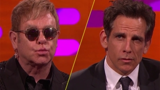 Ben Stiller And Elton John Show Off With Their Best Blue Steel Looks From 'Zoolander'