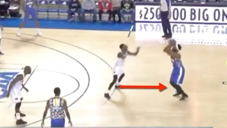 Baron Davis Already Ripped Nylon From Steph Curry Range & Dunked In His D-League Debut