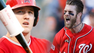 Mike Trout Explains Why He Will Never Flip His Bat Like Bryce Harper