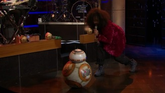 Reggie Watts Got Funky With BB-8 On 'The Late Late Show'