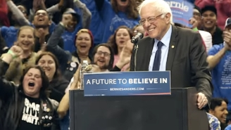 Bernie Sanders Can Summon Birds Now, To The Delight Of Everyone At His Rally