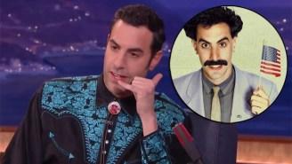 Sacha Baron Cohen Reveals 'Borat's' Deleted Adult Film Career On 'Conan'