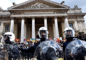 A Brussels Memorial Service Turns Chaotic When Far-Right Protesters Confront Mourners