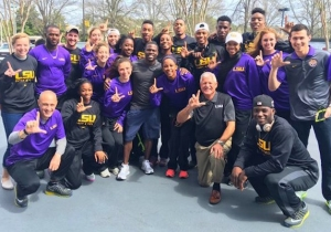 Kevin Hart Used A Bit Of 'Gamesmanship' To Outpace This LSU All-American In A Sprint