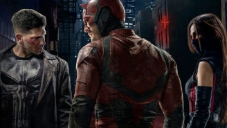 Check out The Punisher and Elektra's costumes in new 'Daredevil' poster