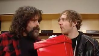 Mick Foley Surprised Dean Ambrose At Raw With A Pep Talk And A Gift