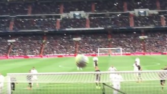 This Fan Gave Us The First-Person Experience Of Taking A Cristiano Ronaldo Penalty Kick To The Face