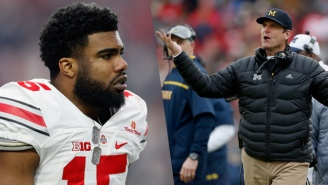 Ezekiel Elliott's Twitter Roast Of Jim Harbaugh Will Give Ohio State Fans The Last Laugh