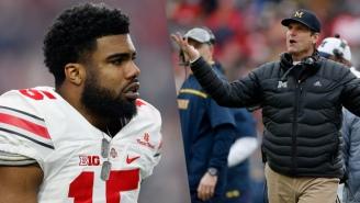 Ezekiel Elliott's Twitter Roast Of Jim Harbaugh Will Give Ohio State Fans The Last Laugh