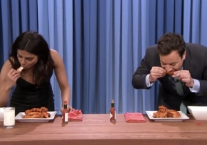 Watch Priyanka Chopra School Jimmy Fallon In A Hot Wing-Eating Contest