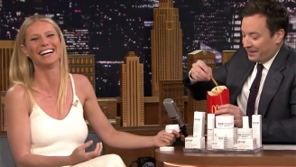 Gwyneth Paltrow And Jimmy Fallon Decide To Eat Some Of Her Goop Skin Cream For Some Reason
