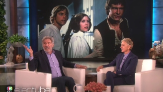 Harrison Ford doesn't seem thrilled about the new young Han Solo movie