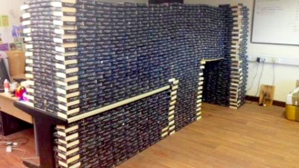 This Charity Shop Received So Many Copies Of 'Fifty Shades Of Grey' That They Built A Dang Fort