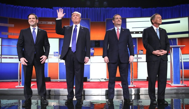 GOP Presidential Candidaates Debate In Detroit