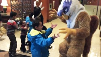 Syrian Refugees Were Placed In The Same Hotel As A Furry Convention And They Loved Every Minute