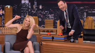Claire Danes Let An F-Bomb Fly Playing 'Family Feud' With Jimmy Fallon