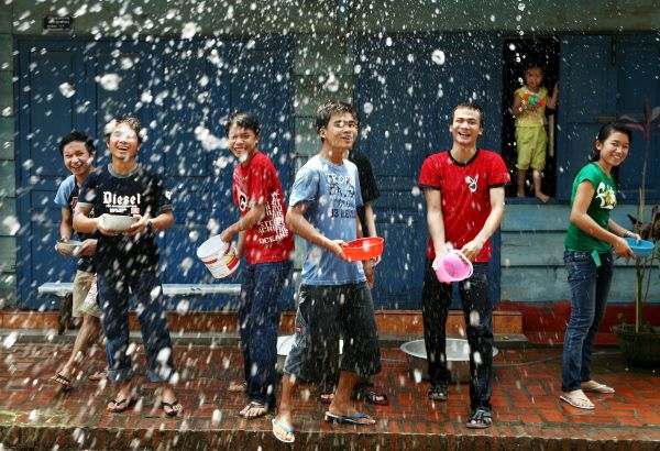 Laos Celebrates Songkran Water Festival